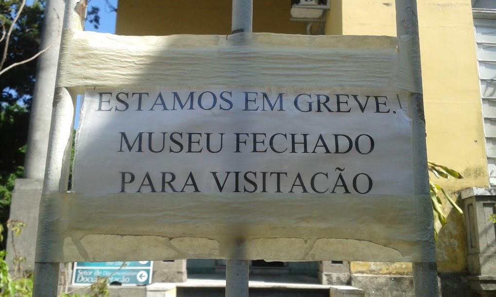 museo em greve