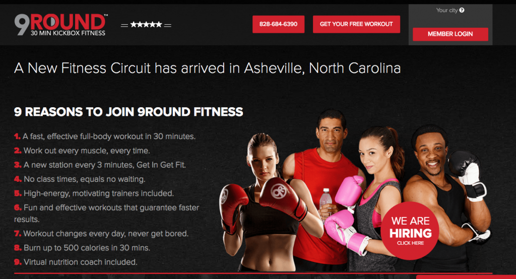 gym membership landing page copy