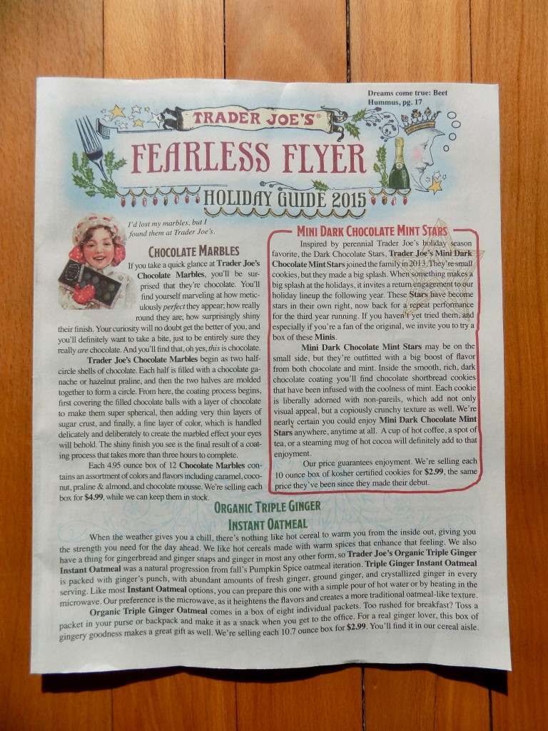 classy copywriting, Trader Joe's Fearless Flyer, copywriting that sells