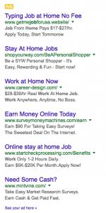 online ads tacky copywriting