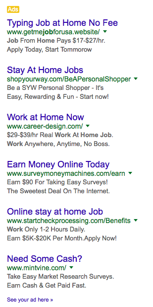 online ads, tacky copywriting, copywriting that sells